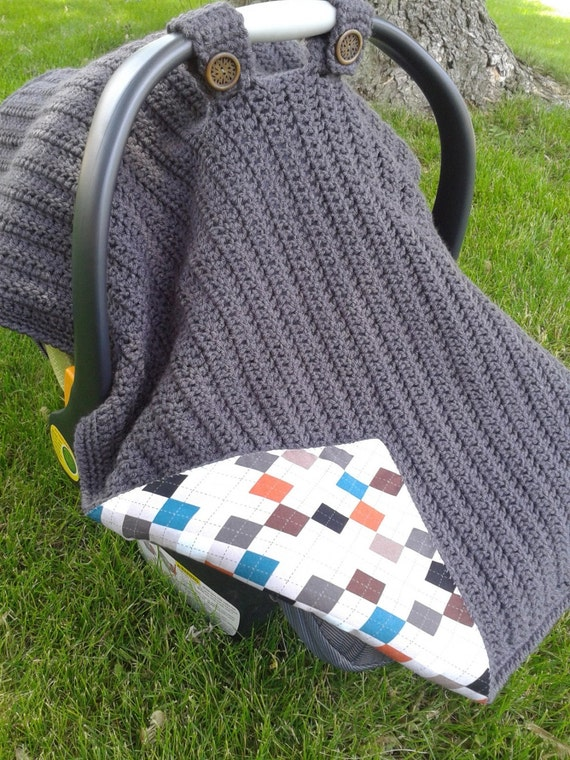 Items Similar To Crocheted Fabric Lined Infant Car Seat