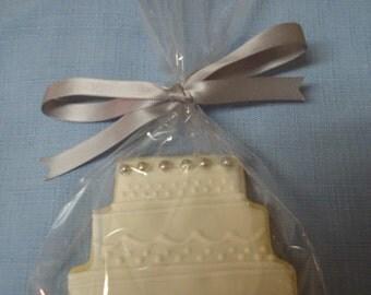 Vanilla Decorated Sugar Cake Cookie Wedding/Birthday/Shower - 1 Dozen