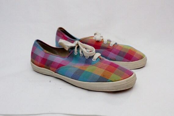 80s vintage tetris keds canvas shoes sneakers