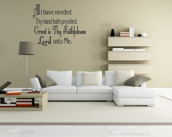 Wall Quotes All I Have Needed Thy Hand Hath Provided Vinyl Wall Decal Quote Removable Christian Wall Sticker Home Decor (C81)