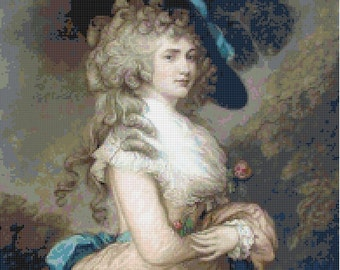 Handmade Duchess of Devonshire PDF Cross-Stitch Pattern