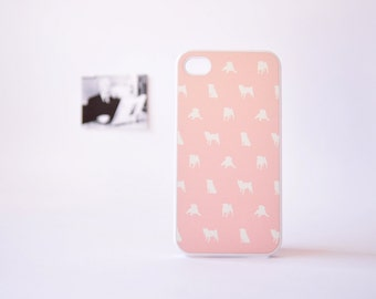 iPhone 4 Case - iPhone 4 Case - Pug iPhone Case - Dog iPhone 4 Case - Cute iPhone Cases for Girls - Plastic iPhone Case - Pink iPhone Case