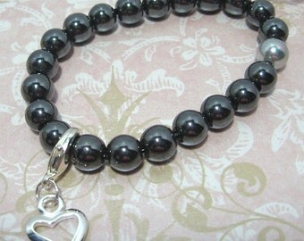 Hematite Count Your Blessings Bracelet