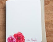 Sweet Roses Personalized Stationary Set - Stationery, Gift for her