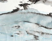 CLEARANCE 80%OFF Ink Painting, cove, Newfoundland art, landscape and scenic
