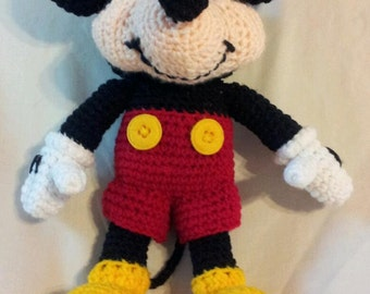 Crocheted Mickey Mouse Plushy(On Sale For Limited Time Only)
