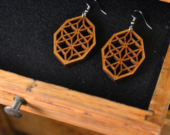 Jewel Screen Earrings - Light Roast