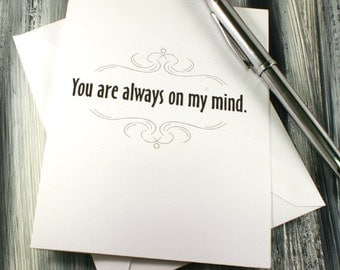 Adult General Greeting Card - Youre Always On My Mind - Dirty Card