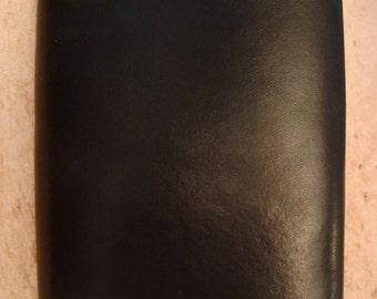 Handmade Black Leather Trifold Wallet - Triplefold Billfold