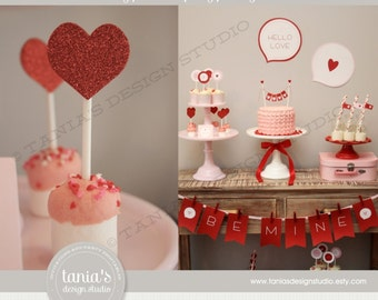 Valentine Printable Party Package by tania's design studio