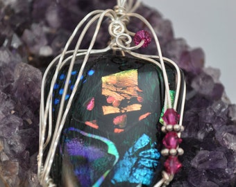 WireWrapped Dichroic Pendant