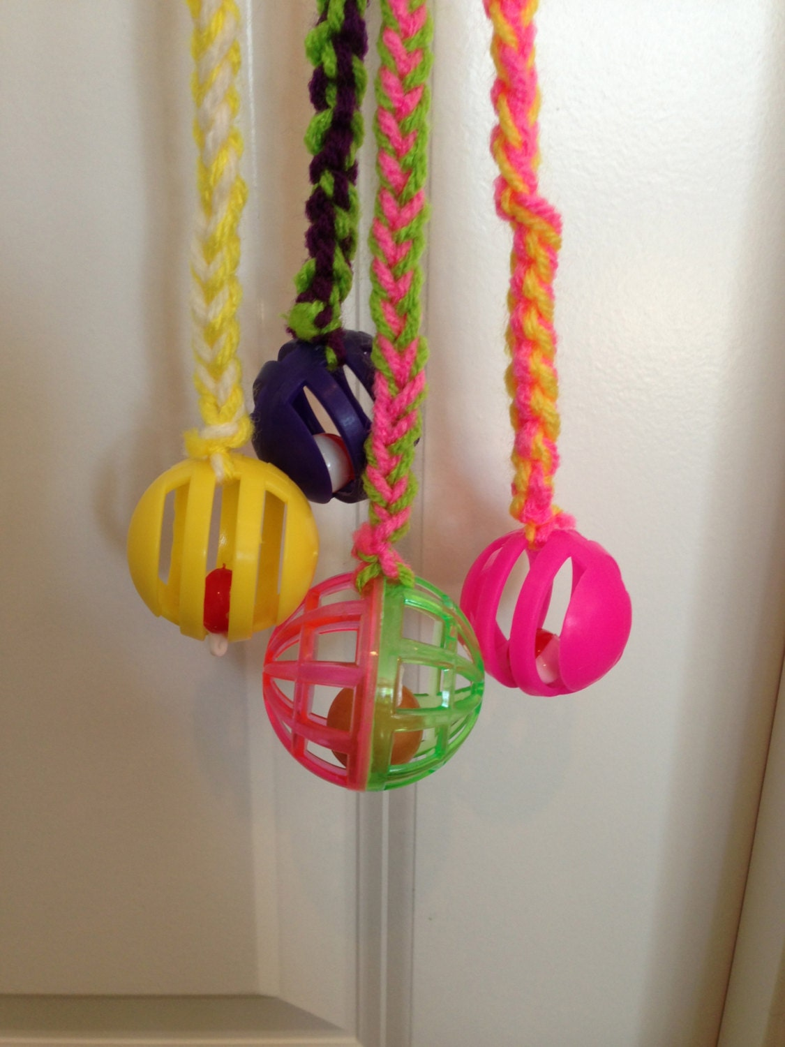 Fun Cat Toys : Cat toy colorful fun knitted with bell by