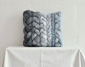 "Grey ""plait"" pillowcase"