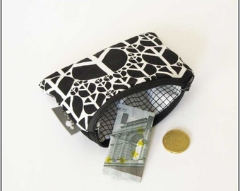 Purse, peace, black, white, portemonnaie, moneybag