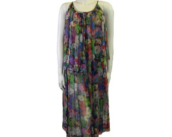 Vintage Jean Muir Silk Printed Summer Dress 1970s