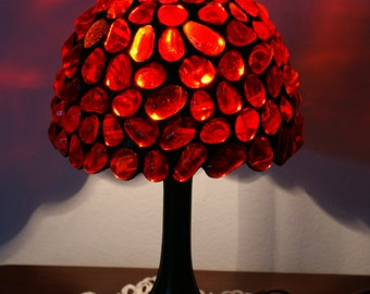 Red Stained Glass Lamp Tiffany Lamp Made to Order