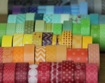 pick 6 whole rolls Washi Tape of your choice - Any 6 rolls from more than 250 choices