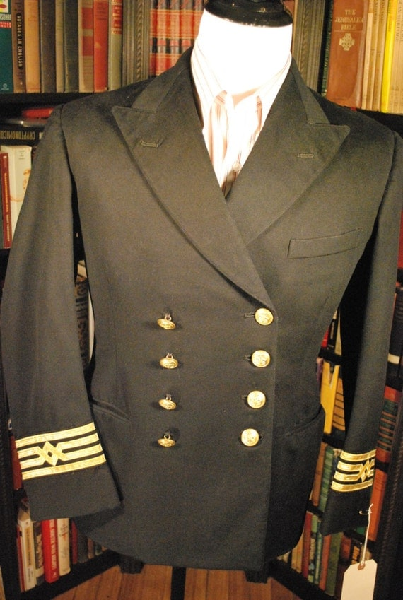 50's Royal Navy Uniform Jacket, Vintage Military Uniform