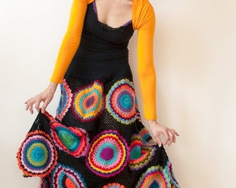 Plus Size Clothing, Long Gypsy Skirt - MADE TO ORDER