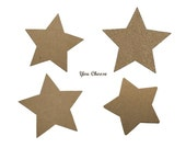 Star Selections Die Cuts in Kraft Chipboard or Cardstock (( 380809-a cv111 380808-a 655777-b )) Superstars shine on bright U PICK STYLE