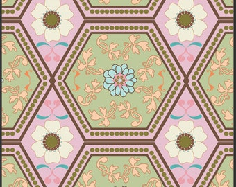 SALE  Pat Bravo Girly Girl Cotton Fabric - Reflection GIG507 Creamy, select length