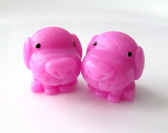 Pink Dogs - Needle Buddies - Small Sock Size Double Pointed Needle DPN Holders