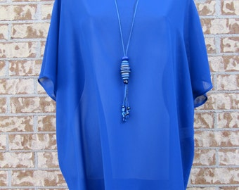 Loose fit tunic, one size, semi-sheer, cruise, beach wear