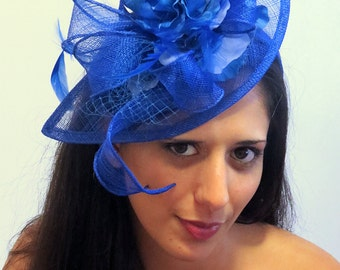Fascinator  Royal Blue Wedding Hat STAVVY BLUE