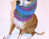 Italian Greyhound (Small Dog) Snood or Neck Warmer in Kalaidescope Color