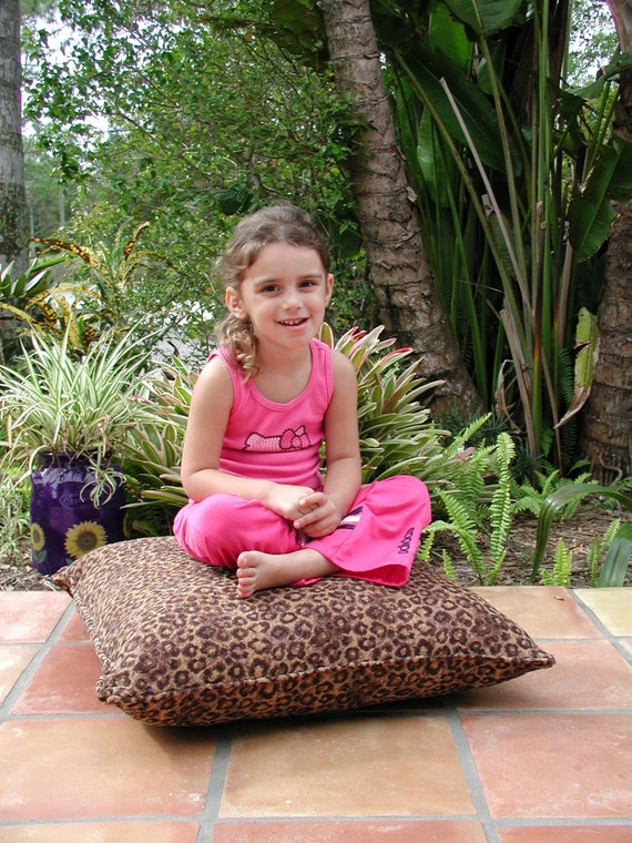 Animal Print Floor Pillows : Large Floor Pillows in Animal Print Stuffed Firm Pillow