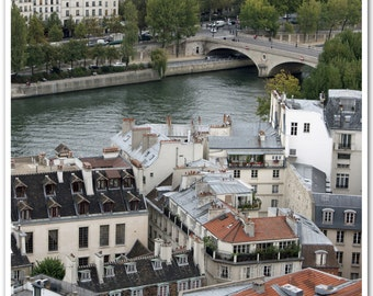 """Paris Photography - """"View over the Seine & Rooftops of Paris"""" - 8x10 Fine Art Photo by Lesley Sico"""