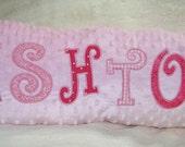 Girl's Light Pink Personalized Name Pillow - Ashton Design