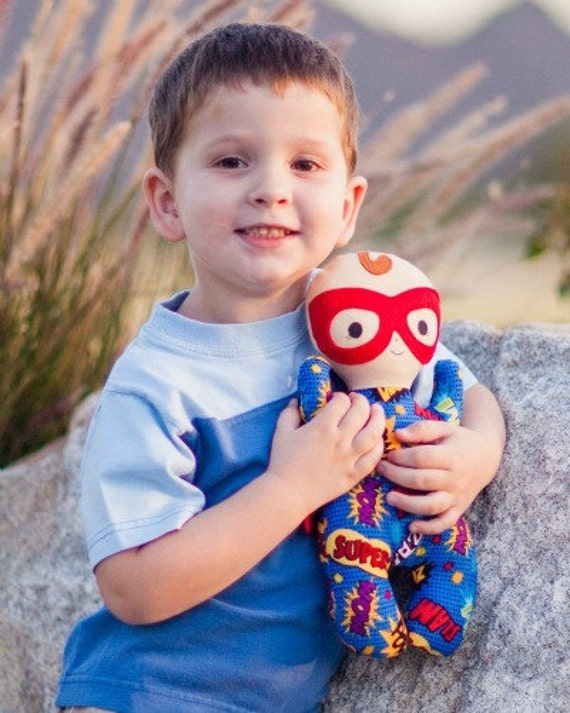 Super Snuggle Baby - Hero Superhero Plush Doll- First Baby Doll *CUSTOM MADE*