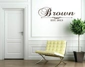 Family Wall Decal - Name Wall Decal - Family Established Sign -  Wedding Decor Wall Decal