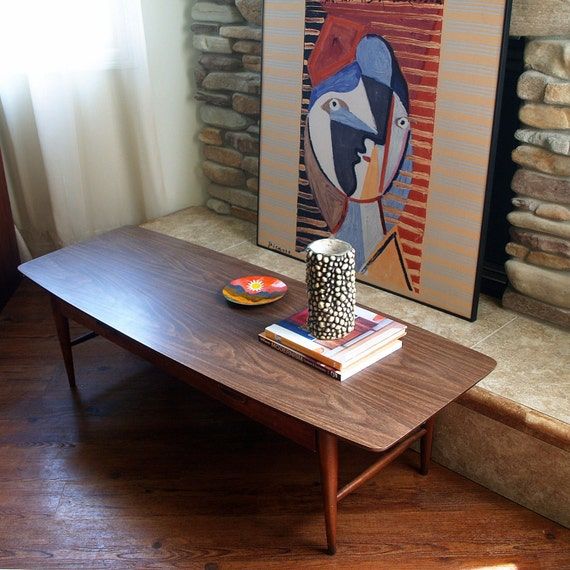 lane coffee table vintage classic 60s danish modern design style