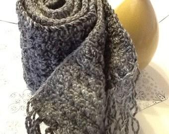 Handmade Crochet Fringe Scarf