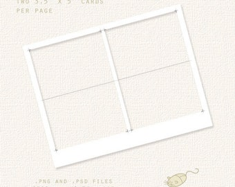 Notecard Template - For Party Kits, Small Business, Scrapbooking, Crafts