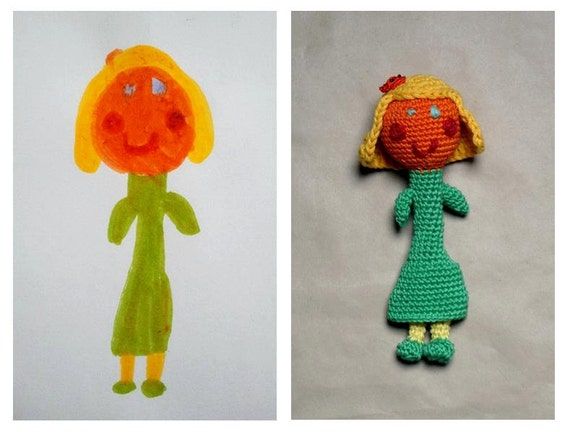 Creative toy from Your Kids drawing Custom your by ...