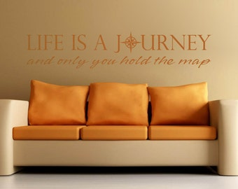 Life is a Journey Inspirational Vinyl Wall Decal