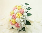 Spring Bloom Wedding Bouquet, Bridal Bouquet - Rustic Woodland Wedding, Origami Wedding Bouquet