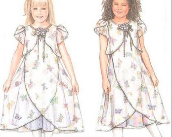 DAISY KINGDOM Dress Sewing Pattern - Girls Dresses Slip OOP Easter Party Outfit