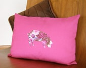 Hot Pink Pillow - Pig Pillow Cover - Country Pig - Cottage Chic - Country Chic Decor - Farmhouse Chic  - Pink and Brown