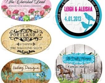Custom Label Design, Sticker Graphic Design for Jewelry, Soap, Candles, Weddings, Bath and Body, Honey, Eggs, Cosmetics