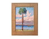 Sale ORIGINAL OIL PAINTING 12x16 Palm Tree Coastal Art
