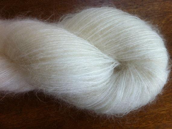 Lace Kid Mohair Nylon Undyed Yarn Undyed Lace Yarn Blank