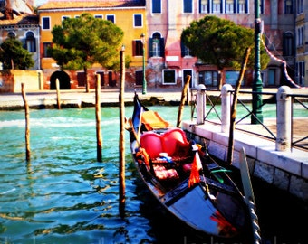 Venice Photography: Venice Gondola Print 8x10- Italy Print, Venice Print, Gondola Print, Gondola Photo, Venice Art Print, Venice Canal Print
