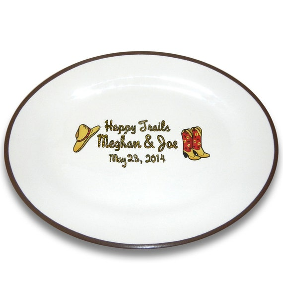 Just Hitched Happy Trails Western Theme Wedding Signature Platter