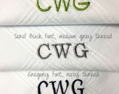 Monogrammed Handkerchief Monogram 100% Cotton Men Women Personalized Groom Wedding Gift Hankie Hanky Preppy Classy
