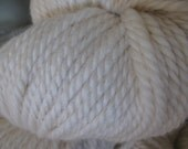 Purely Natural Creamy White Bulky Romney Yarn from VT Grand View Farm