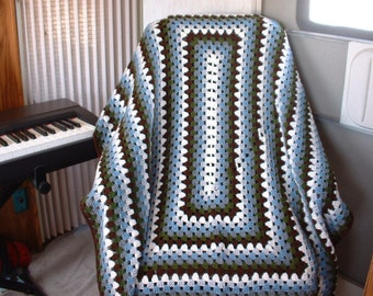 6-Color STAINED GLASS WINDOW Afghan